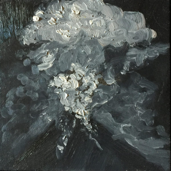 """Rachel Bounds, Volcano III, 2016, oil on wood panel, 12""""x12"""""""
