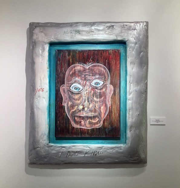 Happiness, 2010, acrylic in canvas, plaster canvas and silver paint