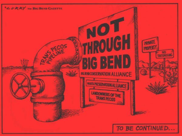 Anti pipeline cartoon