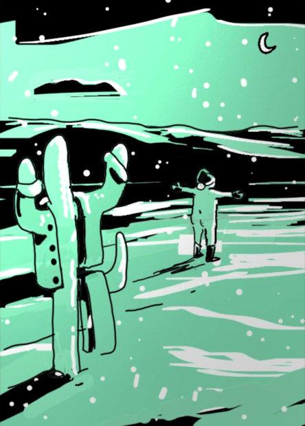 Illustration for Glasstire by Houston artist John Forse