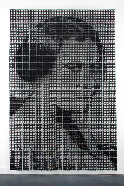 Sonya Clark, Madam C.J. Walker, 2008. Photo: Taylor Dabney via Blanton Museum of Art