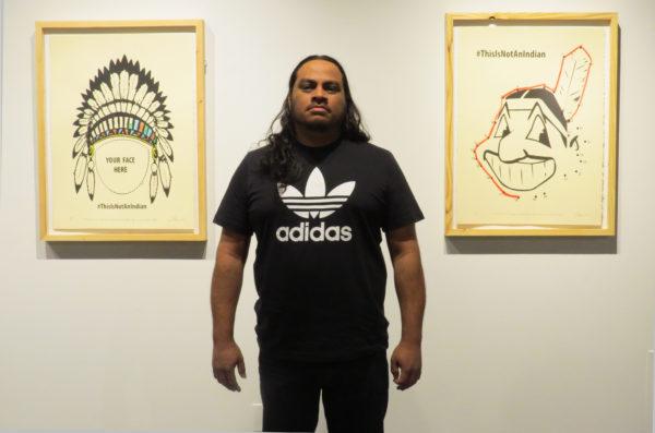 Joe Harjo at the Southwest School of Art. Photo: David S. Rubin