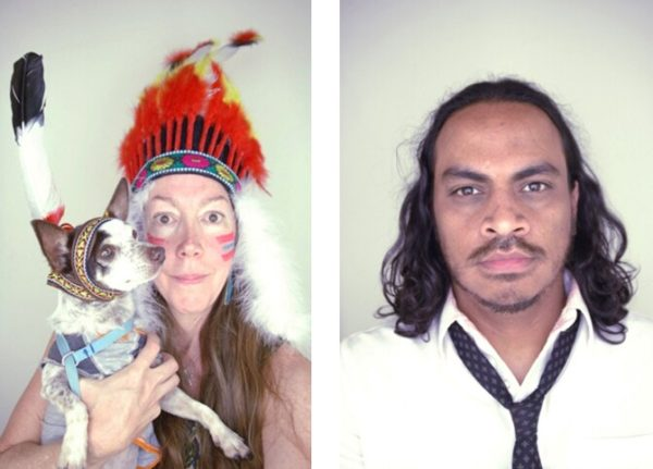 Five Minute Indians, 2012, wearable props, artist's entire wardrobe, photo booth, photo booth photographs, dimensions variable