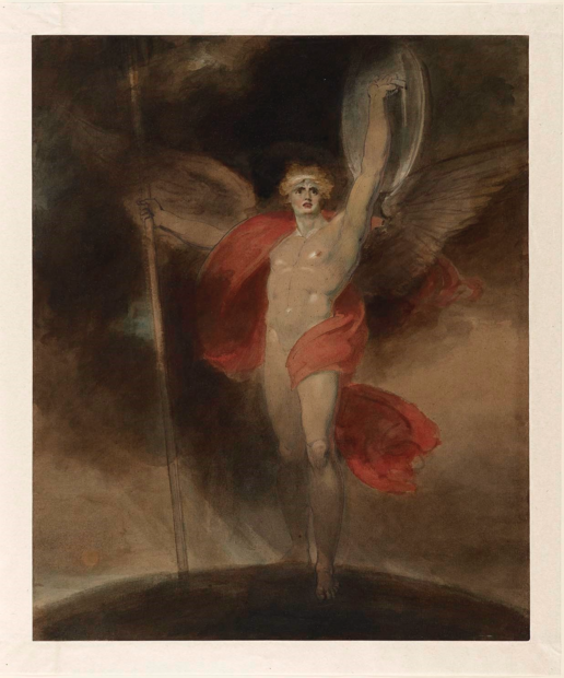 Richard Westall, Satan alarm'd, c. 1790s, watercolor, pen and ink, and gouache, over graphite on laid paper, the Museum of Fine Arts, Houston, Museum
