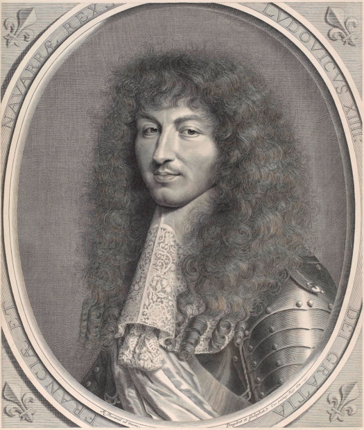 Robert Nanteuil, Portrait of Louis XIV, 1664, engraving on laid paper, state II/V, the Museum of Fine Arts, Houston, Museum purchase funded by the Alvin S. Romansky Prints and Drawings Accessions Endowment Fund.