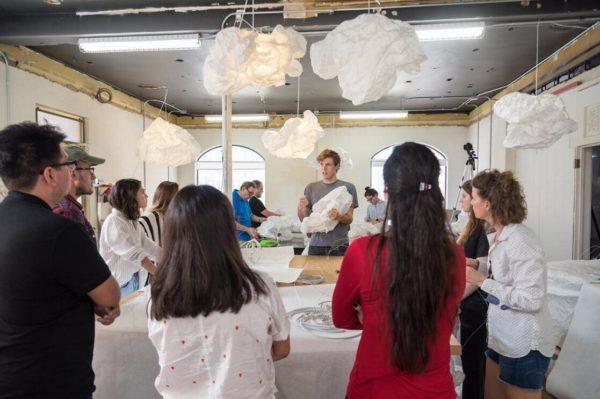 Cade Bradshaw instructs participants in Bridge Projects workshop, 2016