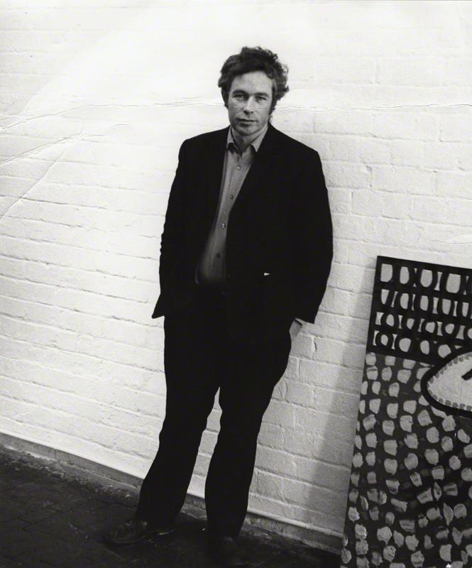 Portrait of Howard Hodgkin by (John) Edward McKenzie Lucie-Smith, bromide print, 1970