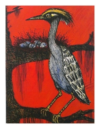 Frank X. Tolbert, Yellow-crowned Heron, 2014-15, Ed. 17/24, Color etching on Rives BFK, 37 x 28 in.