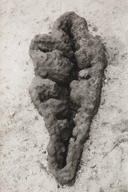 Ana Mendieta, American, 1948-1985, Untitled (Maroya), 1982, lifetime black and white photograph, 10 x 8 in. (25.4 x 20.3 cm). Nasher Sculpture Center, Acquired through the Kaleta A. Doolin Acquisitions Fund for Women Artists. Image courtesy of Galerie Lelong, New York