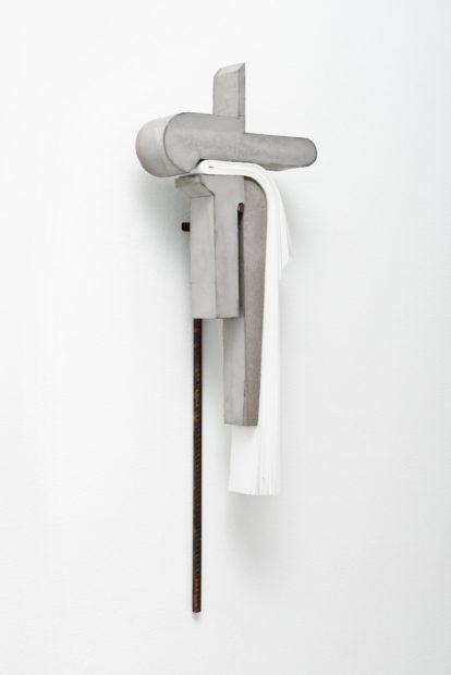 Abismo 68, 2017, concrete, paper, and steel