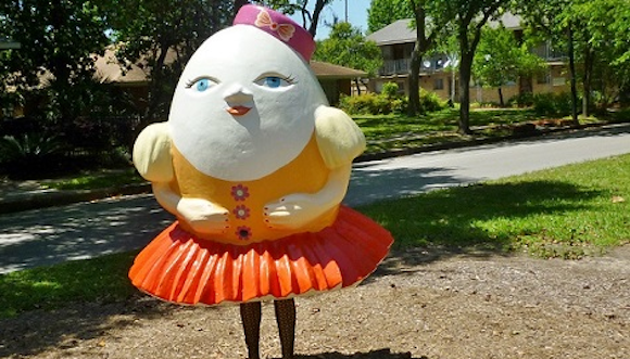 Austin artist Yuliya Lanina's Humpty Dumpty