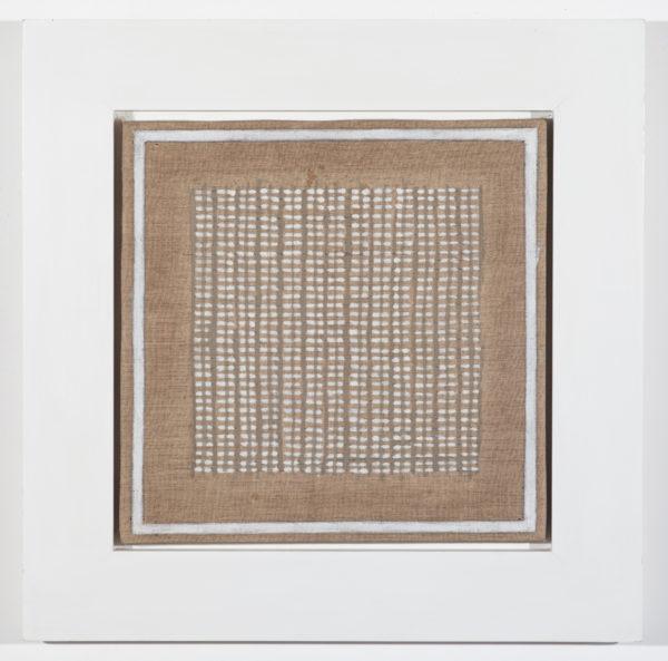 Agnes Martin, Island No. 1, 1960. Oil on linen, 12 × 12 in. (30.5 × 30.5 cm). Private Collection, Houston.