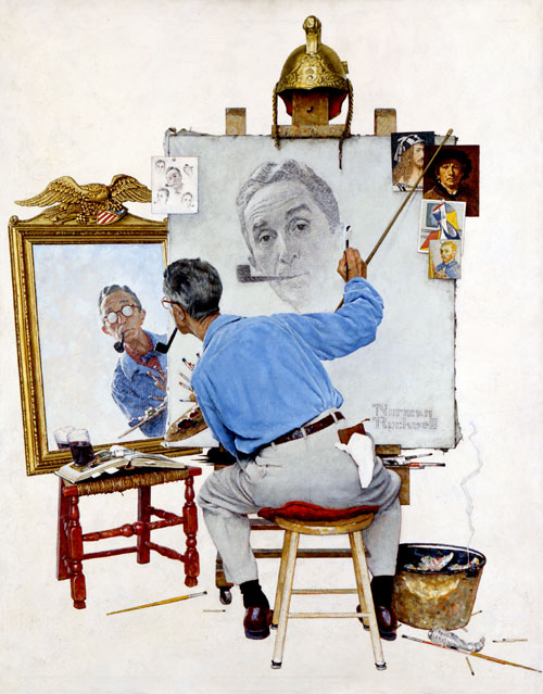 Norman Rockwell's Study for Triple Self Portrait, 1960