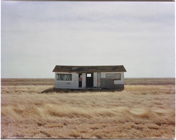 Jason Lee, Highway 136 North of Amarillo, Texas, 4x5 Kodak Pro 100 Film, pigment inkjet print, 17 x 22.