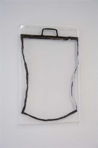 Jack Leirner, Void 3, Plastic bag and polyesther foam, 2007. Seen at Gallery Sonja Roesch.
