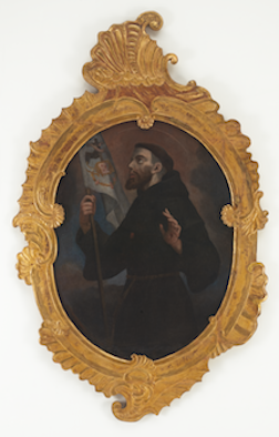 Anonymous Venezuelan Painter from the School of Caracas, San Francisco de Asis, 18th century, oil on canvas, 75 x 46.5 in., Blanton Museum of Art, The University of Texas at Austin, Gift of Patricia Phelps de Cisneros, 2016. Photo Courtesy of Colección Patricia Phelps de Cisneros.