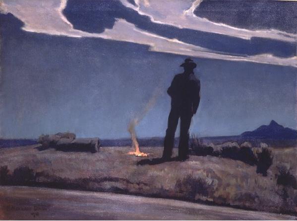 Maynard Dixon (1875–1936) Roadside 1938, oil on canvas,
