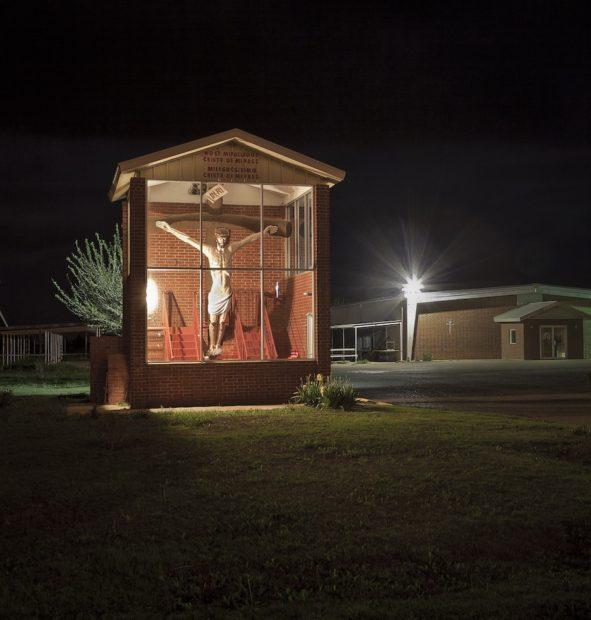 Boxed Jesus, Abernathy, Texas, 2010, archival pigment print