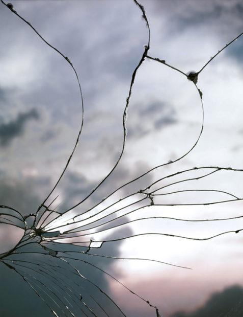 Broken Mirror/Evening Sky (C-22), 2012 inkjet print 71 x 56 inches, framed edition of 3