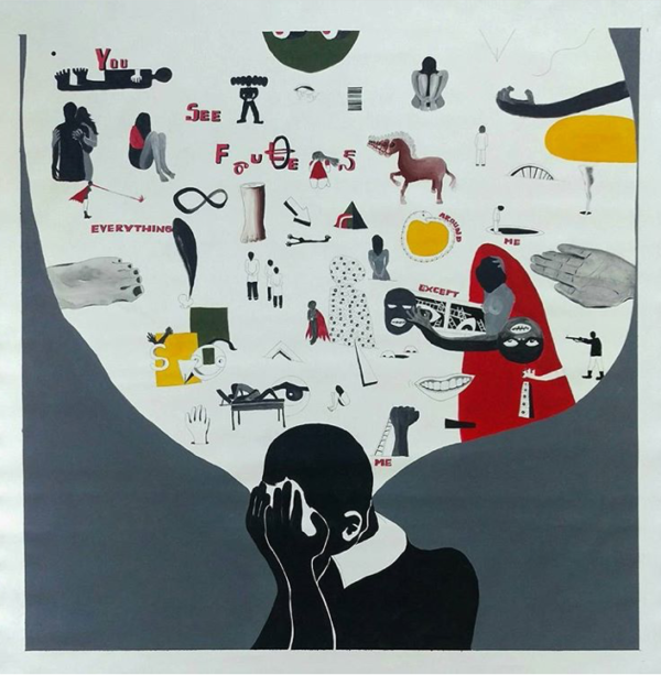 Rahul Mitra, You see everything around me, except me, 2017