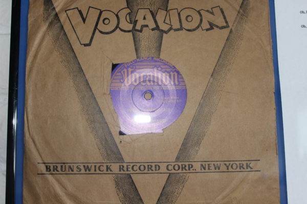 Vocalion Paper Wrapper.