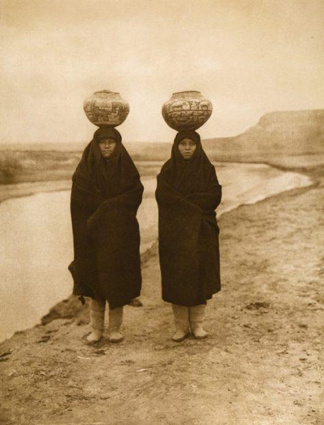 Zuni Girls at the River