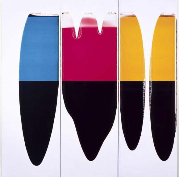 Ellen Carey (b. 1952) Pulls (CMY), 1997 Polaroid 20 x 24