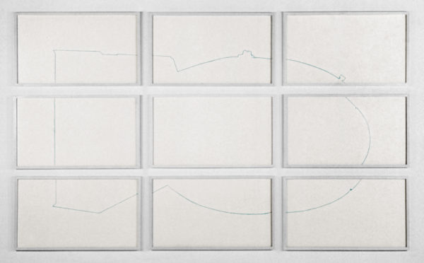 Imploder, 60 x 99 inches, pencil on paper, 1996