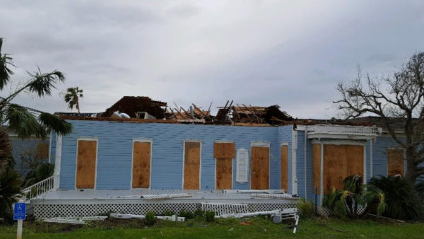 The Rockport Center for the Arts after Hurricane Harvey