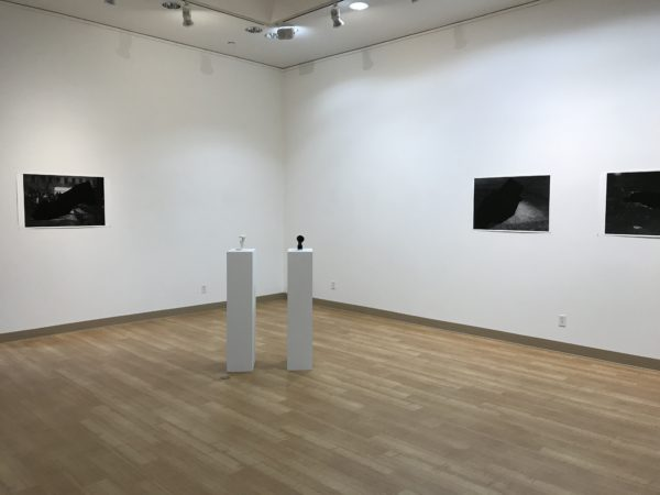 Install view of work by Jenny Vogel and Morehshin Allahyari