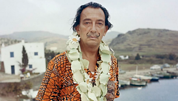 Salvador Dali. Photo by Kammerman/Gamma-Rapho via Getty Images.
