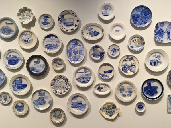 The Last Supper: 700 Plates Illustrating Final Meals of U.S. Death Row Inmates installation view at Texas State Galleries