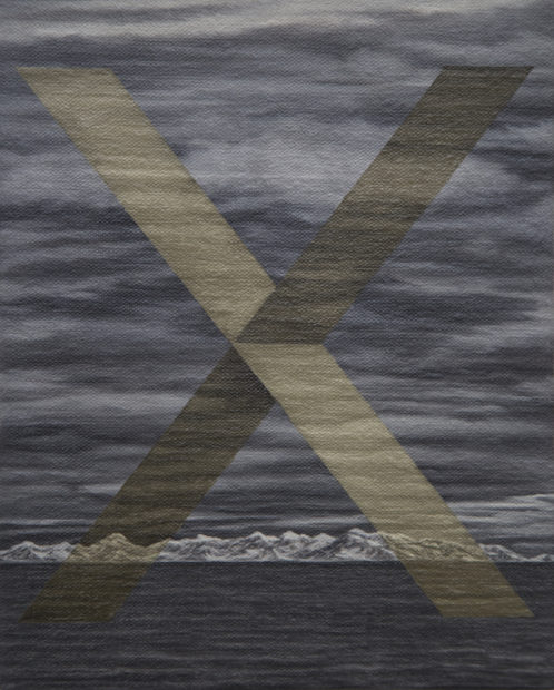 Arctic mountains gold X