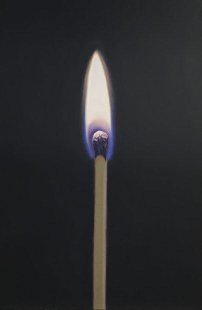 "John Hartley, Black Match, Oil on canvas, 20 x 30"""