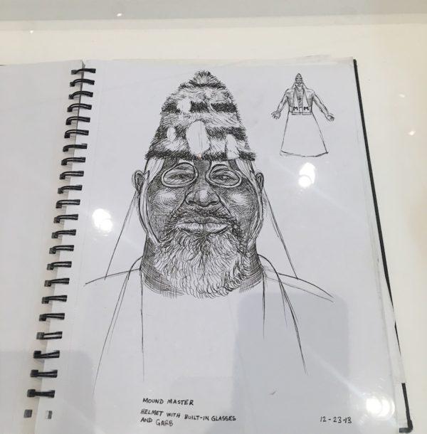 Sketchbook page, 2013, courtesy Trenton Doyle Hancock