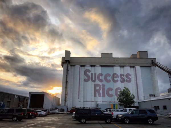Success Rice grain silo building in Houston
