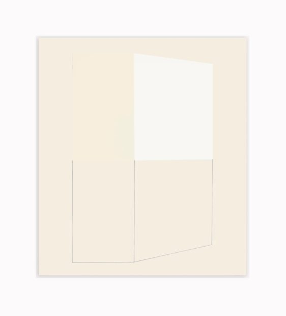 Jeff Kellar, Winter Drawing 2, 2017, resin, clay and pigment on aluminum composite panel, 24 x 20 ¼ in.