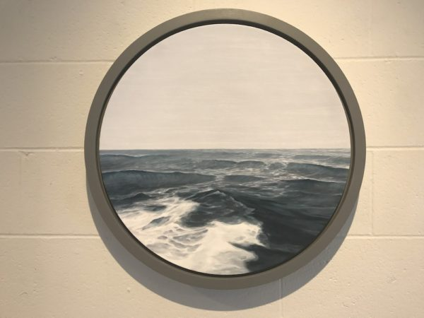 Hillary Dohoney, Porthole II, oil on panel.