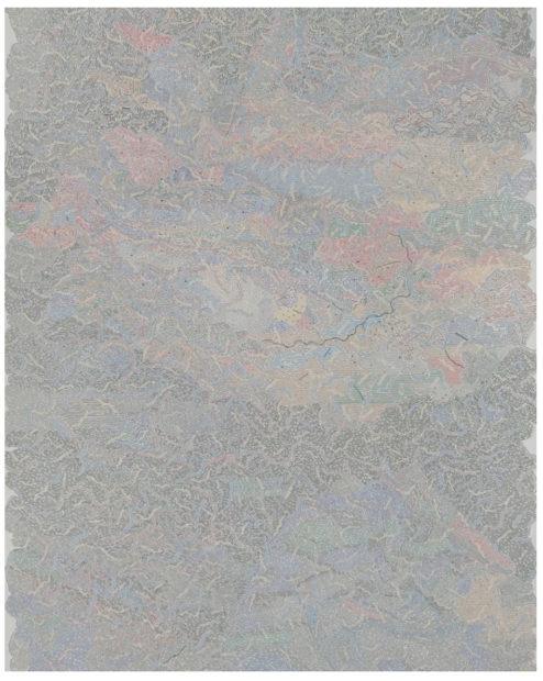 "Adam Palmer, Small Town Boy, marker on paper, 30 x 22"""