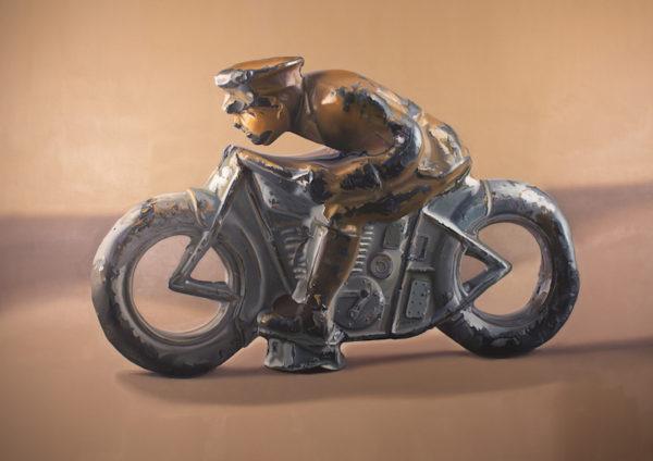 "John Hartley, Lead Foot, Oil on canvas, 60 x 84"""