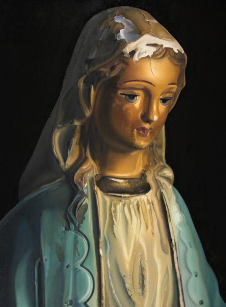 "John Hartley, Mother Mary, Oil on canvas, 40 x 30"""