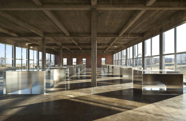 Donald Judd's 100 works in mill aluminum