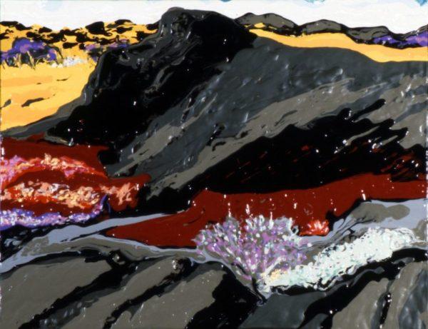"Mel Casas, ""A Mountain of Paint"" acrylic on canvas, 1997, 11 x 14"""