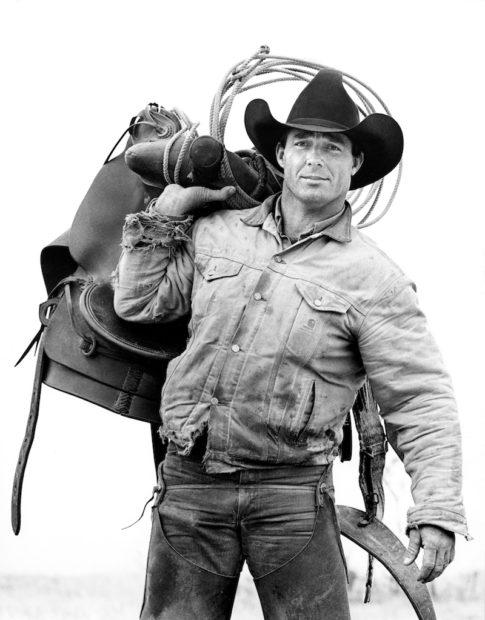 Donny Baize, Cowboy, J.R. Green Cattle Company, Shackelford County, Texas, March 18, 1997 Gelatin silver print