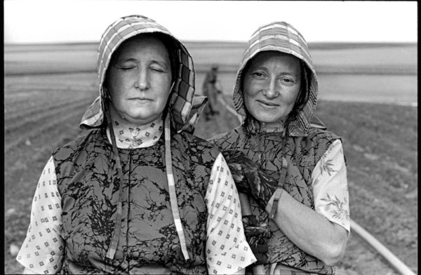 Women Gardeners, Riverview Colony, Chester, Montana, June 22, 1994 Gelatin silver print