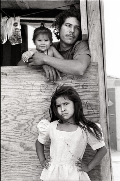 Child with Father and Sister, Colonia, Nuevo Laredo, Mexico, April 19, 1993 Gelatin silver print