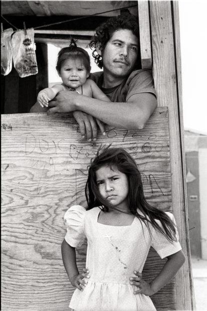 Child with Father and Sister, Colonia, Nuevo Laredo, Mexico, April 19, 1993 Gelatin silver print