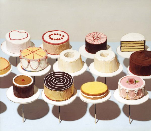 Wayne Thiebaud, Cakes (1963), National Art Gallery Washington, oil on canvas 152×183 cm