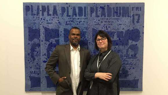Jamal Cyrus and Inman Gallery owner Kerry Inman