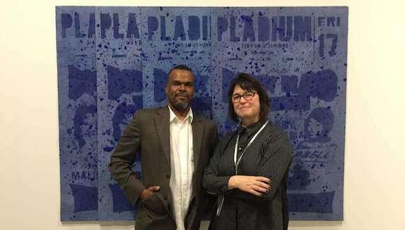 Jamal Cyrus and Inman Gallery owner Kerry Inman